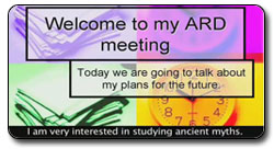 Student's contribution to their ARD meeting
